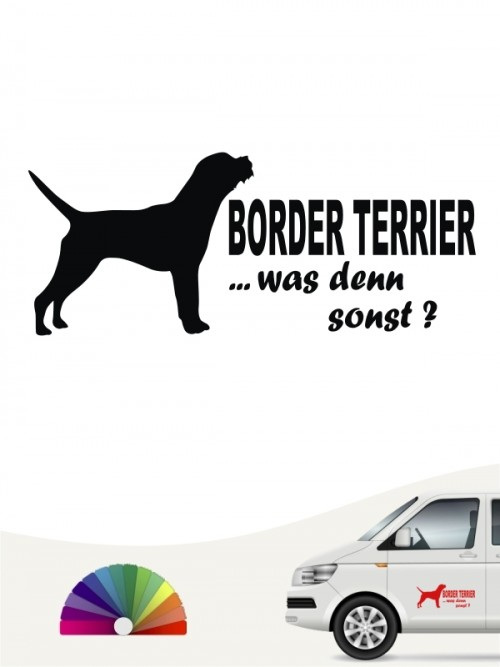 Was denn sonst Border Terrier Autosticker anfalas.de