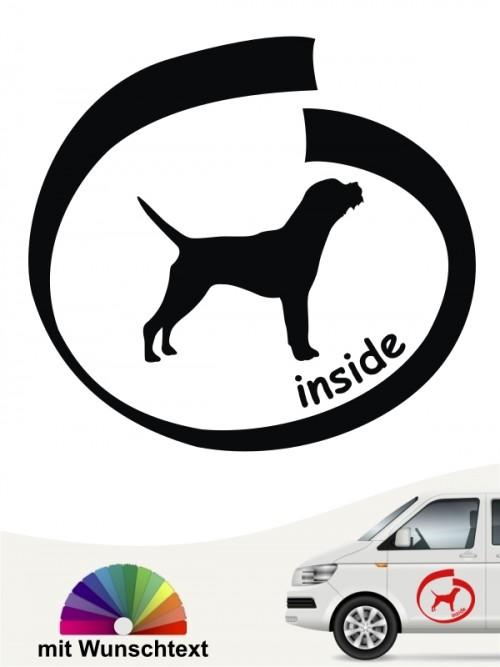 Hunde-Autoaufkleber Border Terrier 8 von Anfalas.de
