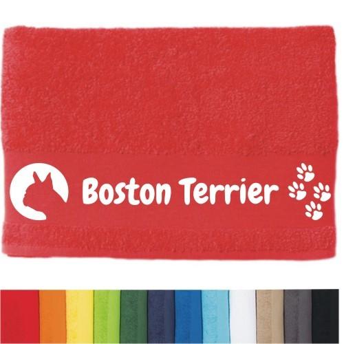 """DOG - Handtuch """"BostonTerrier"""" von anfalas.de"""