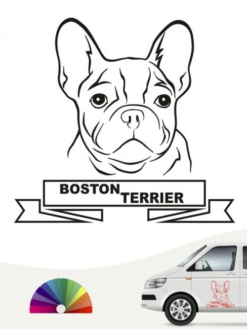 Hunde-Autoaufkleber Boston Terrier 15 von Anfalas.de
