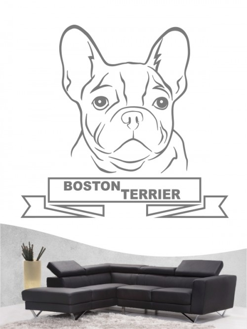 Hunde-Wandtattoo Boston Terrier 15 von Anfalas.de