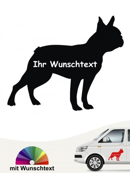 Boston Terrier Silhouette mit Wunschtext anfalas.de
