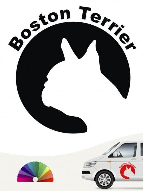 Boston Terrier Aufkleber von anfalas.de