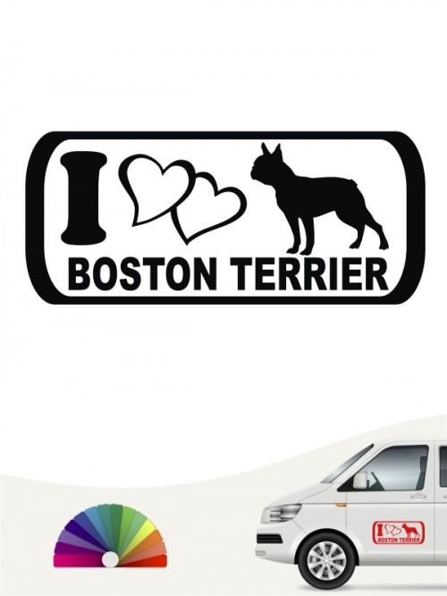 Boston Terrier I Love Hundeaufkleber anfalas.de