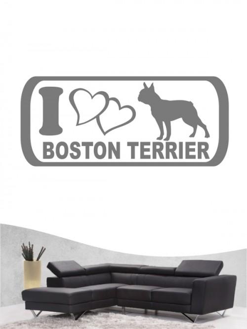 Boston Terrier 6 - Wandtattoo