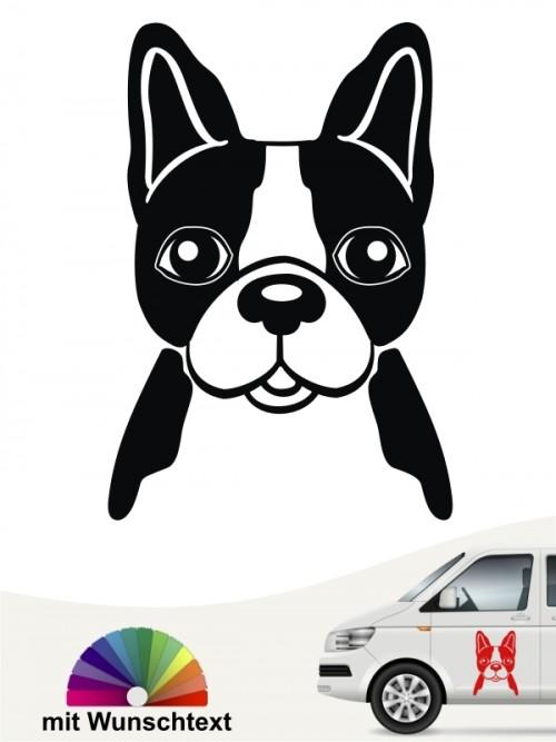 Boston Terrier Comic mit Wunschtext von anfalas.de