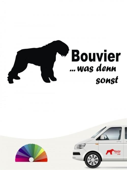 Bouvier des Flandres was denn sonst Hundeaufkleber anfalas.de