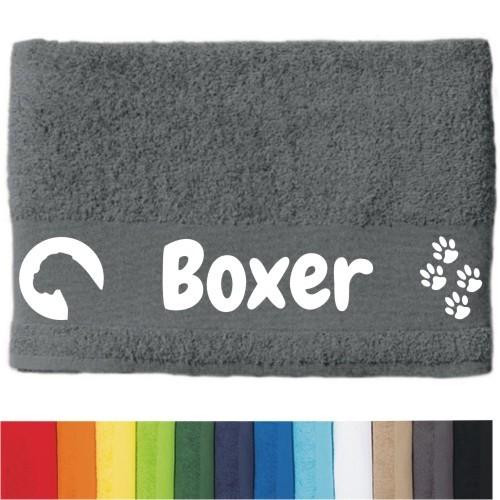 """DOG - Handtuch """"Boxer"""" von anfalas.de"""