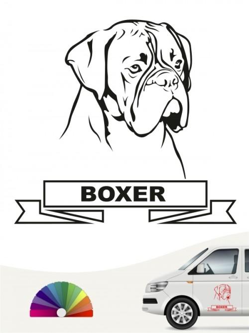 Hunde-Autoaufkleber Boxer 25 von Anfalas.de