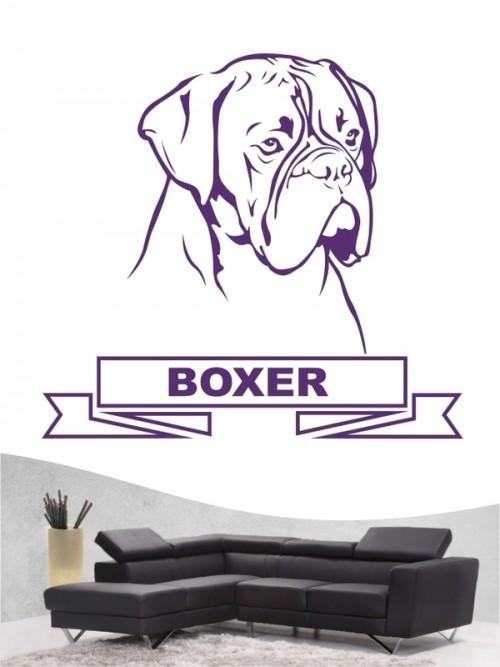Hunde-Wandtattoo Boxer 15 von Anfalas.de