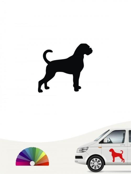 Hunde-Autoaufkleber Boxer 1 Mini von Anfalas.de