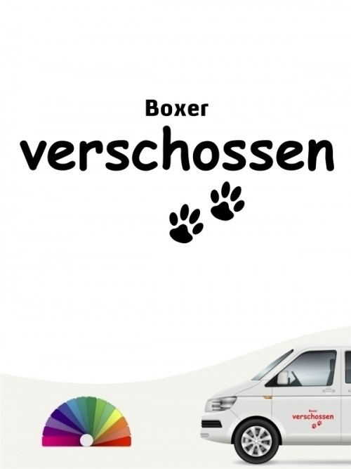 Hunde-Autoaufkleber Boxer verschossen von Anfalas.de