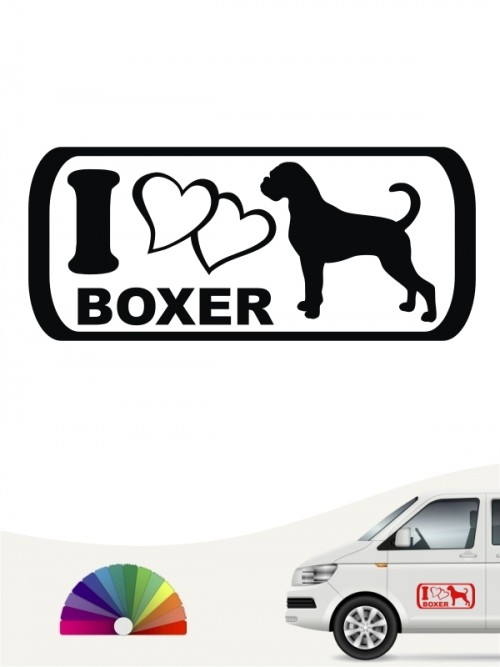 I Love Boxer Hundeaufkleber anfalas.de