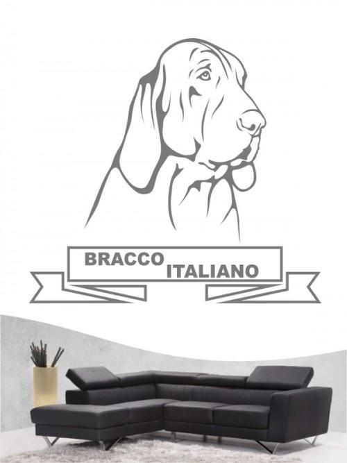 Hunde-Wandtattoo Bracco Italiano 15 von Anfalas.de