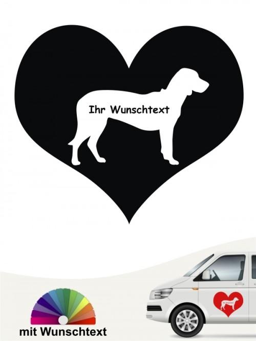 Brandlbracke Silhouette im Herz mit Wunschname anfalas.de