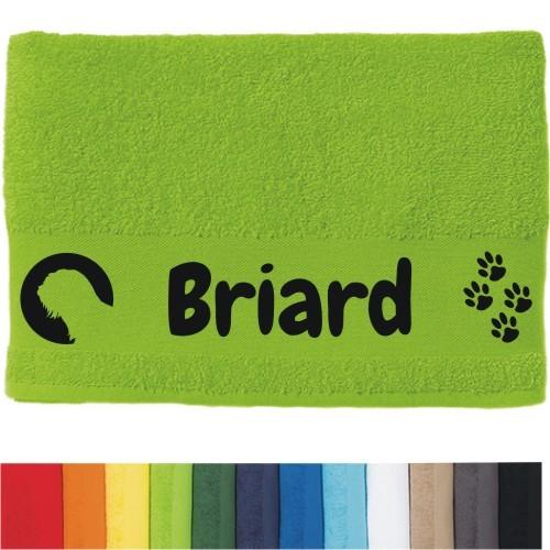 """DOG - Handtuch """"Briard"""" von anfalas.de"""