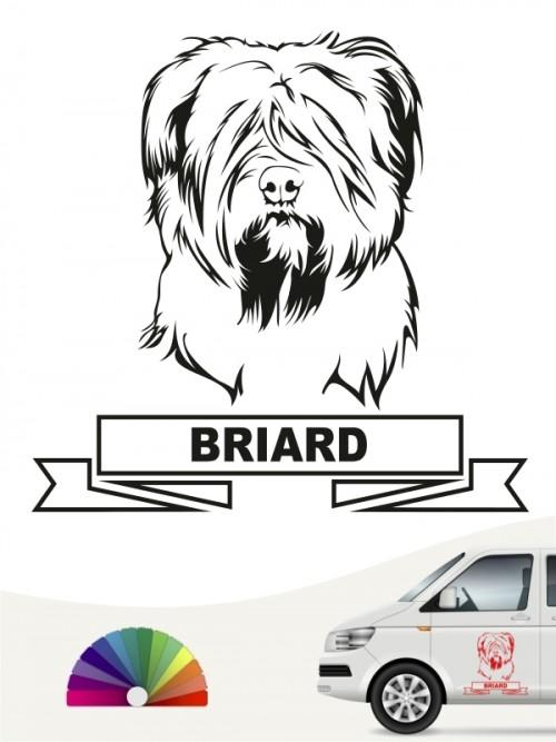 Hunde-Autoaufkleber Briard 15 von Anfalas.de