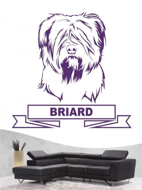 Hunde-Wandtattoo Briard 15 von Anfalas.de