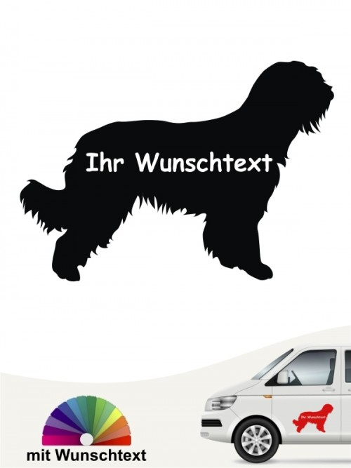 Briard Silhouette mit Wunschname anfalas.de