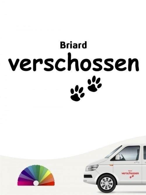 Hunde-Autoaufkleber Briard verschossen von Anfalas.de