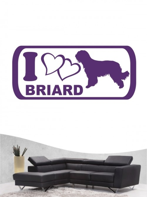 Briard 6 - Wandtattoo