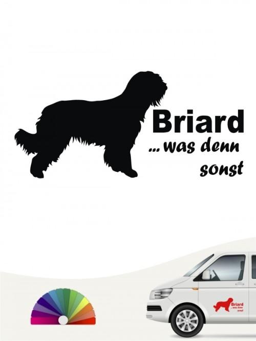 Briard was denn sonst Autoaufkleber anfalas.de