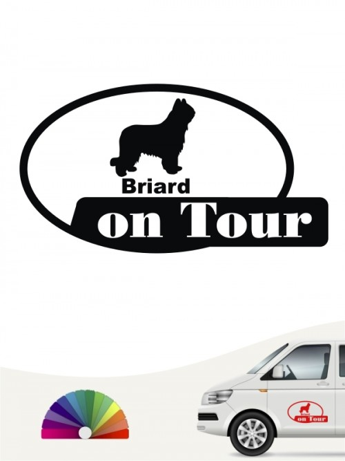 Briard on Tour Autoaufkleber anfalas.de