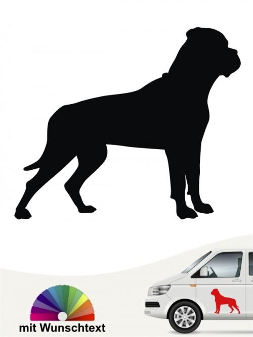 Bullmastiff Sticker mit Wunschtext von anfalas.de
