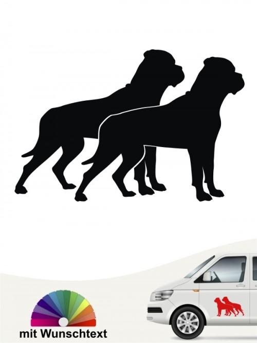 Bullmastiff doppel Silhouetten mit Wunschtext anafalas.de