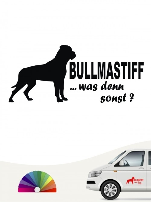 Bullmastiff was denn sonst Autoaufkleber anfalas.de