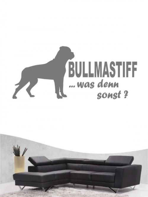 Bullmastiff 7 Wandtattoo