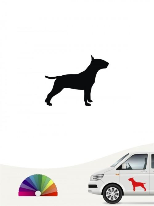Hunde-Autoaufkleber Bullterrier 1 Mini von Anfalas.de