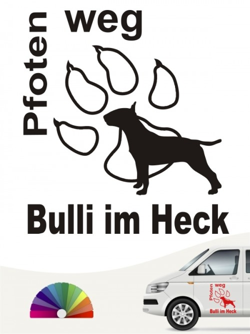 Bulli im Heck Pfoten weg Aufkleber anfalas.de