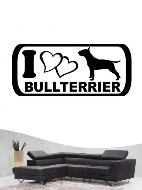 Bullterrier 6 - Wandtattoo