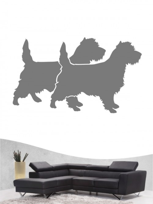 Cairn Terrier 2 Wandtattoo
