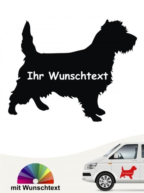 Cairn Terrier Silhouette mit Wunschtext anfalas.de