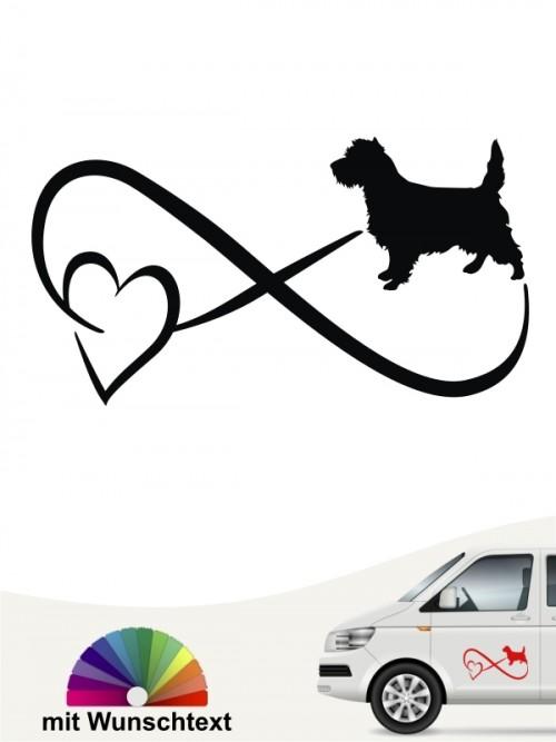 Cairn Terrier  Autoaufkleber mit Wunschtext von anfalas.de