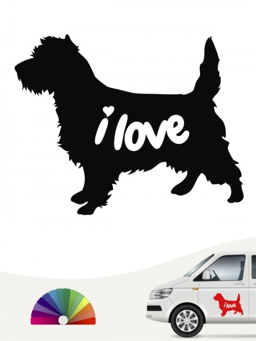Cairn Terrier i love Aufkleber von anfalas.de
