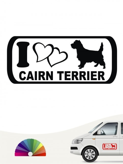 I Love Cairn Terrier Sticker anfalas.de