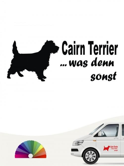 Cairn Terrier was denn sonst Autosticker anfalas.de