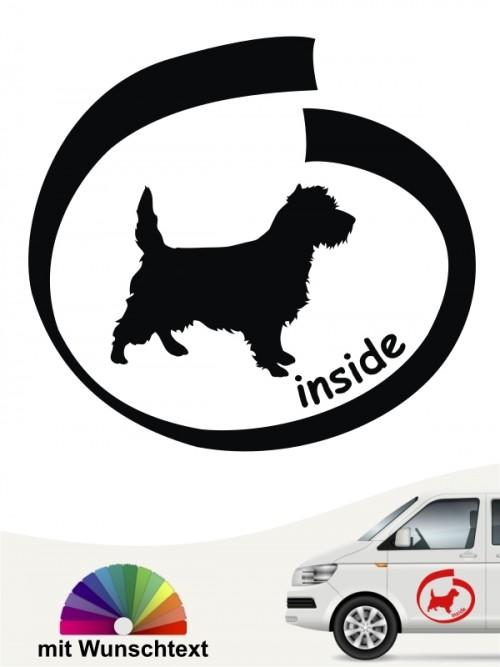 Inside Aufkleber Cairn Terrier mit Wunschtext anfalas.de
