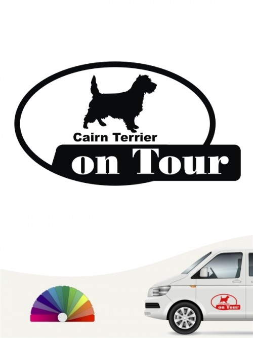 Cairn Terrier on Tour Heckscheibenaufkleber anfalas.de
