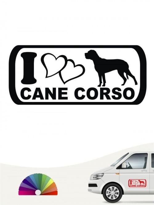 I Love Cane Corso Hundeaufkleber anfalas.de