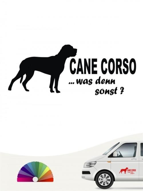 Cane Corso was denn sonst Autosticker anfalas.de