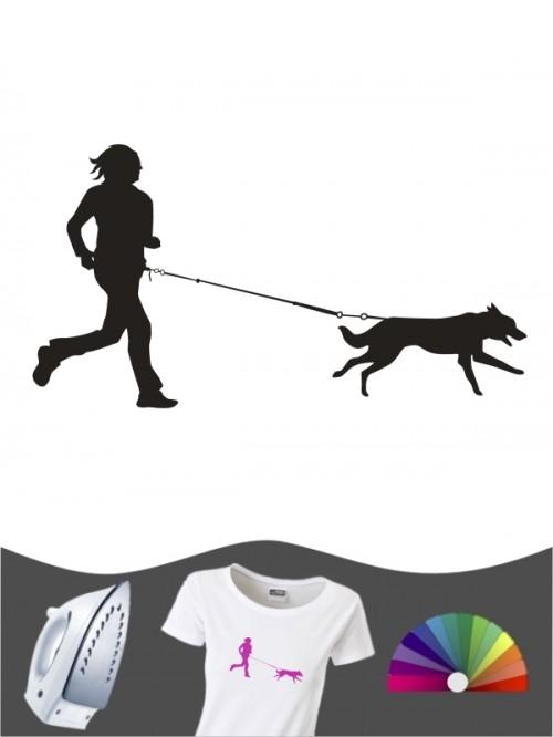 Hunde-Bügelbild Canicross 10 von Anfalas.de