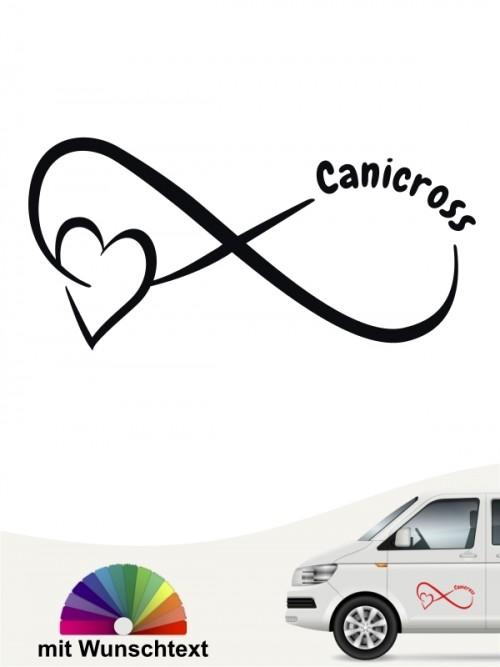 Canicross Team Heckscheibenaufkleber mit Wunschtext von anfalas.de
