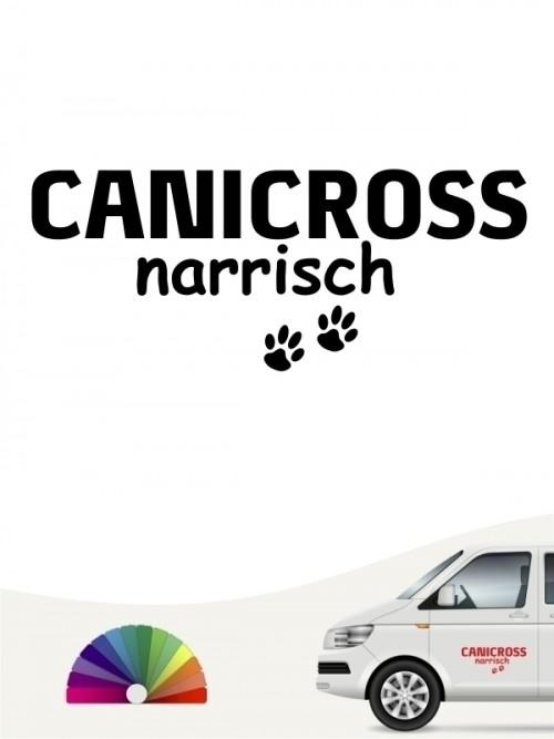 Hunde-Autoaufkleber Canicross narrisch von Anfalas.de