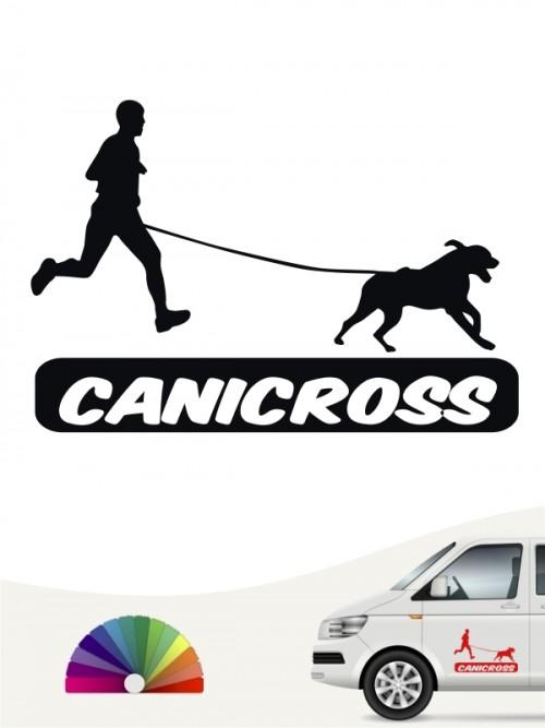 Canicross Heckscheibensticker für das Auto von anfalas.de