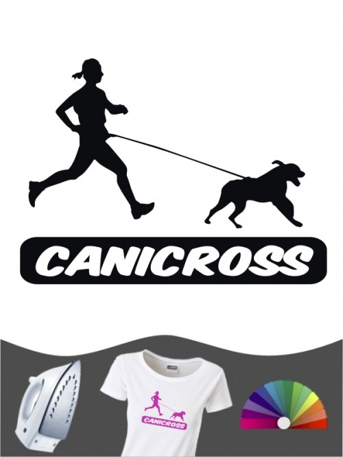 Hunde-Bügelbild Canicross 6 von Anfalas.de