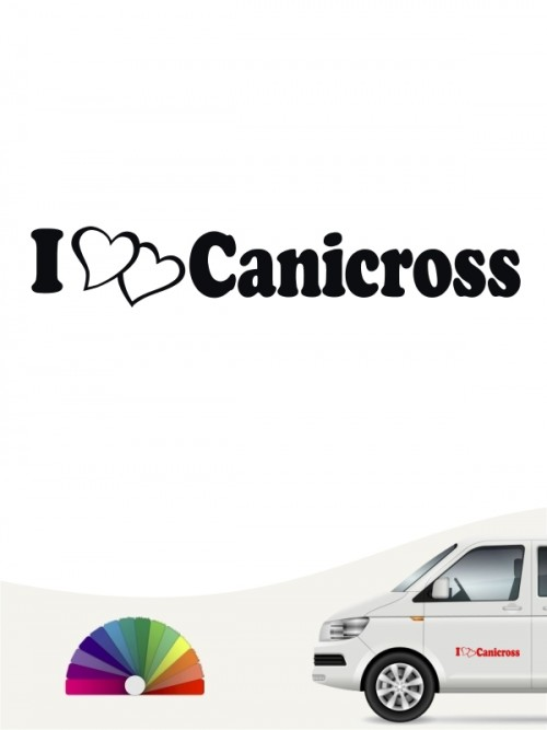 Hunde-Autoaufkleber Canicross 7 von Anfalas.de